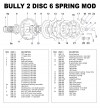Bully Mod/Open Clutch, 2 Disc 6 Spring - - alt view 1