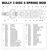 Bully Limited Clutch, 3 Disc 6 Spring - - alt view 1