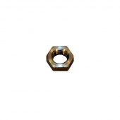 "3/8"" Hex Jam Nut, Left Hand, Aluminum"