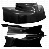 JKB Fiberglass Body Kit, Black