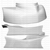 JKB Fiberglass Body Kit, White