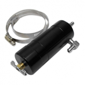 Catchcan with Clamp, Black, Aluminum