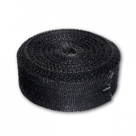 Longacre Exhaust Pipe Wrap, 50 ft, Black