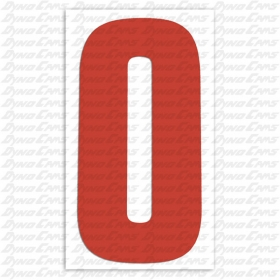 Number Decal, Red