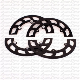 Sprocket Guards, Aluminum, Black