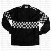 TMC Racing Jacket with Leather Arm Patch, Large, Black